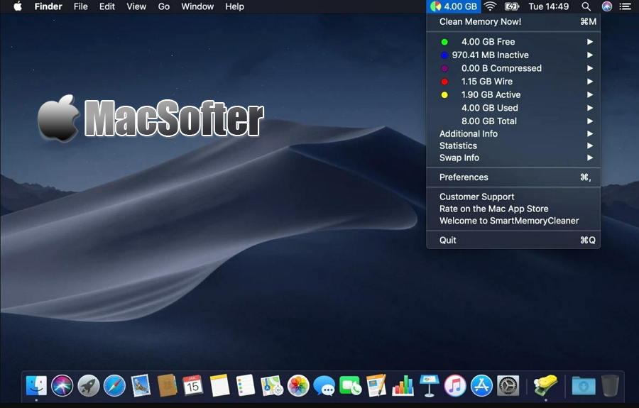 [Mac] SmartMemoryCleaner : 方便好用的自动清理内存工具