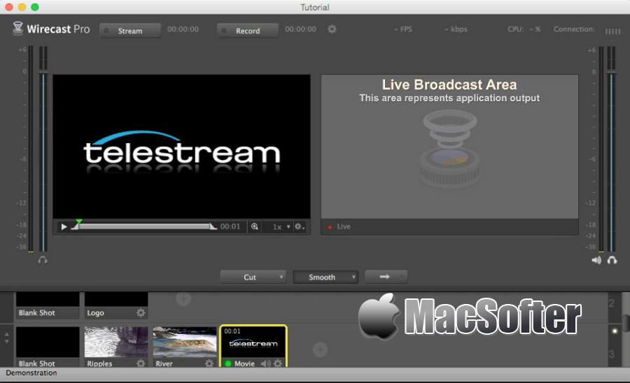 [Mac] Wirecast Pro  : 多机位视频直播软件