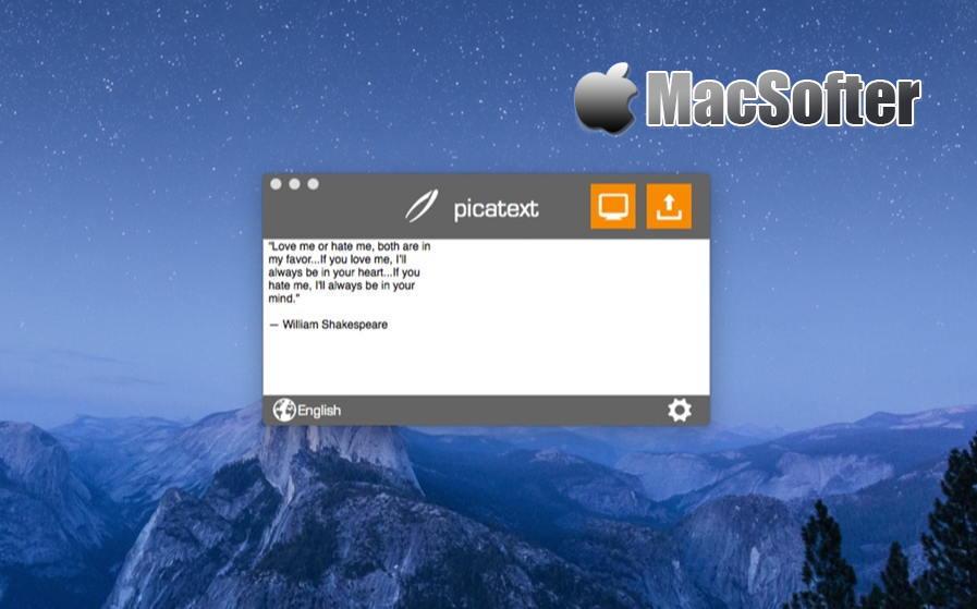 [Mac] picatext : 方便易用的OCR文字识别工具