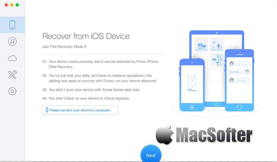 [Mac] Primo iPhone Data Recovery : 专业的iPhone数据恢复工具