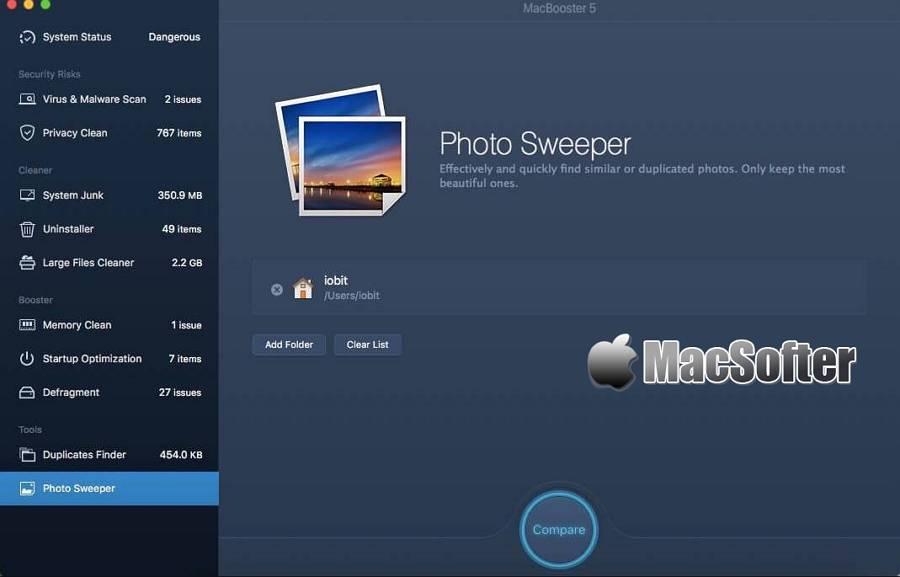 [Mac] MacBooster : 系统清理及系统优化维护工具
