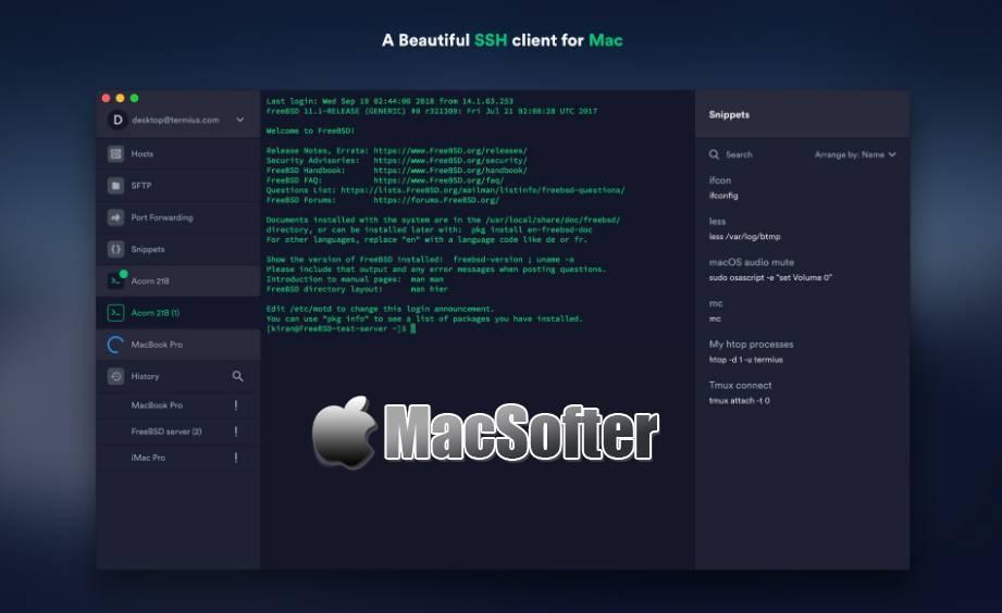 [Mac] Termius : 免费的SSH客户端工具