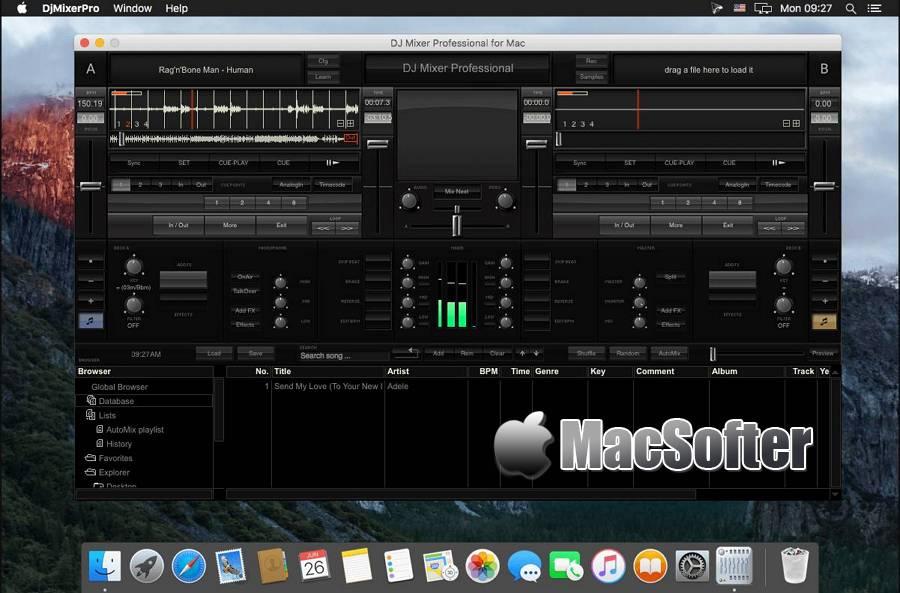 [Mac] DJMixerPro : 专业的DJ混音软件