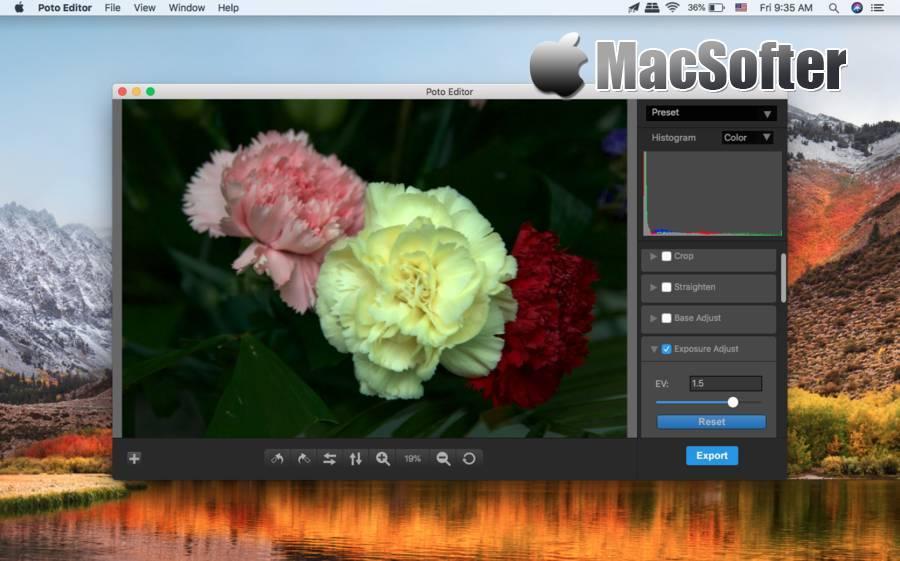 [Mac] Poto Editor :RAW照片优化处理工具