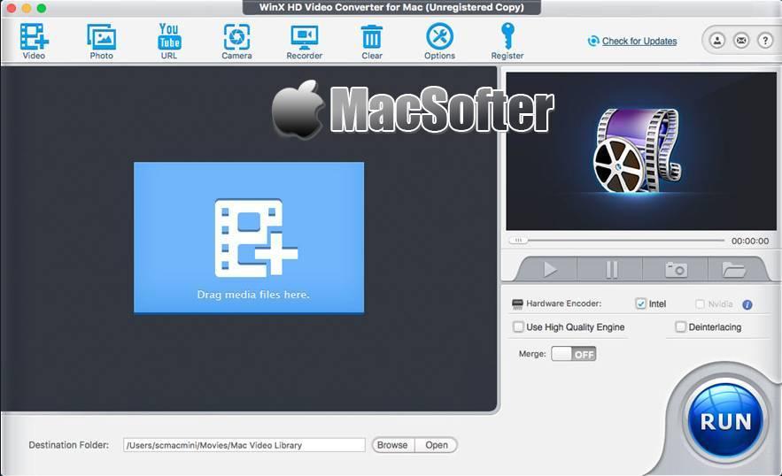 [Mac] WinX HD Video Converter : 高清视频格式转换器