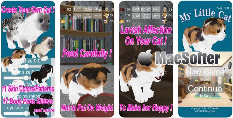 [iPhone/iPad] MyLittleCat : 3D萌猫模拟养成游戏