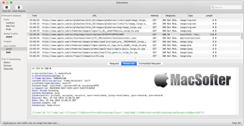 [Mac] Debookee  :网络数据抓包及分析工具