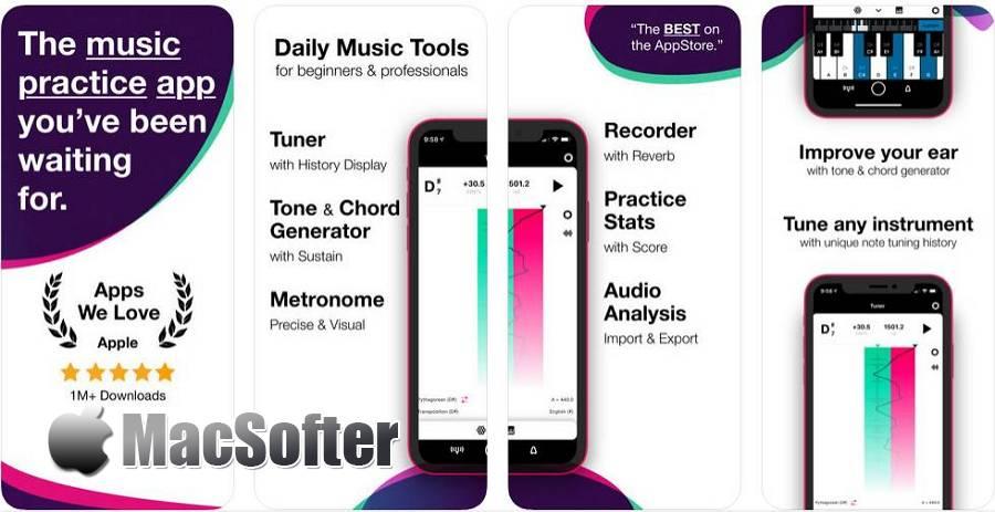 [iPhone/iPad] Tunable : 专业的调音器和节拍器
