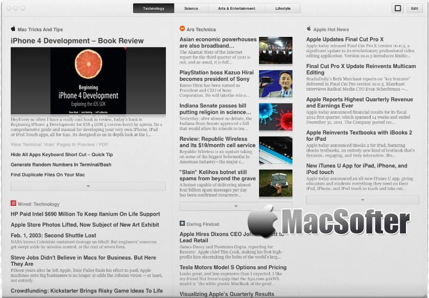 [Mac] Pulp : 让阅读更方便的rss新闻阅读器