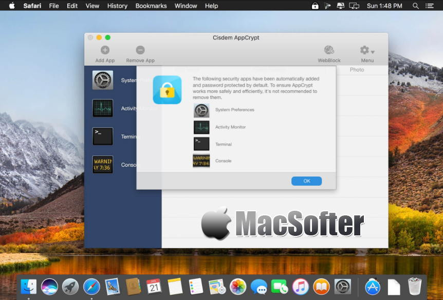 [Mac] CISDEM AppCrypt : 软件加密锁定及网站屏蔽阻止工具