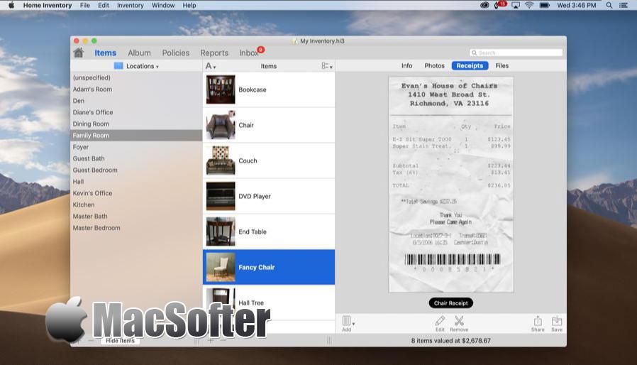 [Mac] Home Inventory : 好用的资产财产登记管理工具