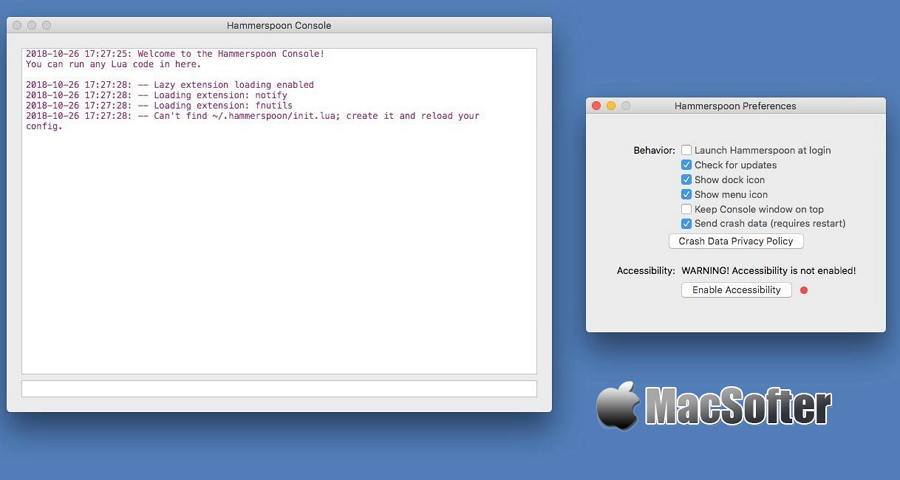 [Mac] Hammerspoon :使用Lua脚本引擎的强大的自动化工具