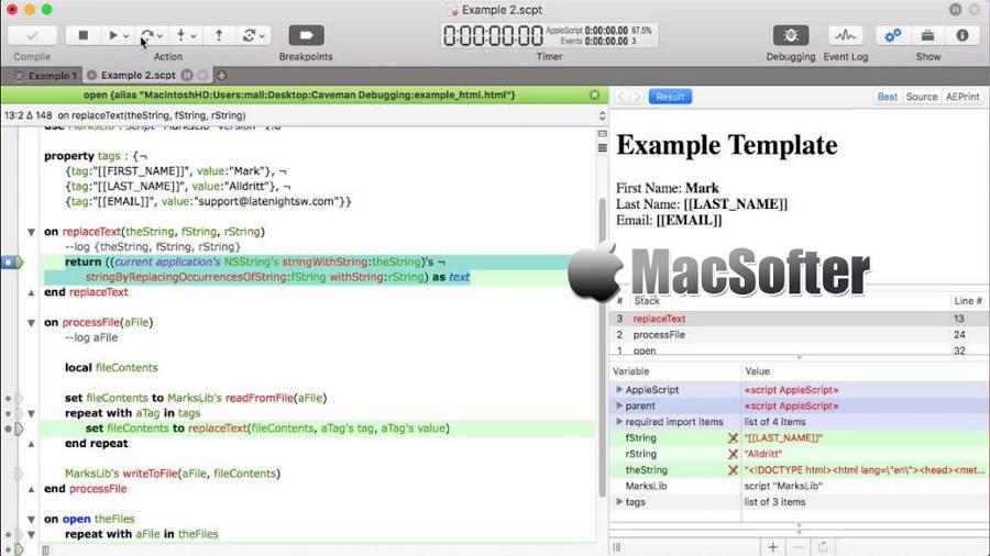 [Mac] Script Debugger : 强大的AppleScript脚本调试工具