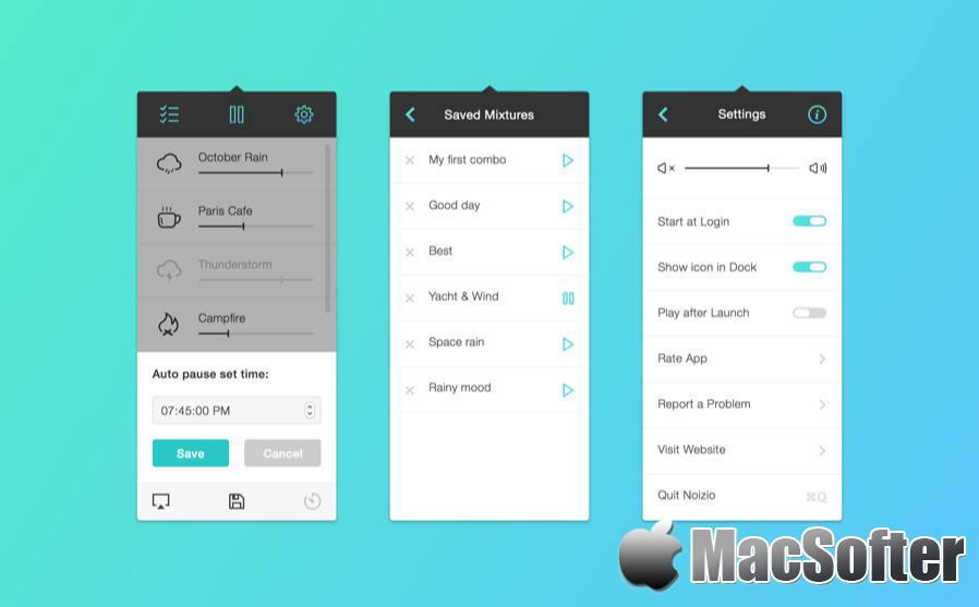 [Mac] Noizio : 帮助我们放松或是集中注意力的白噪音软件