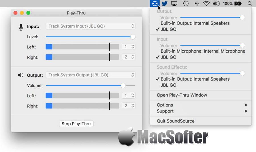 [Mac] SoundSource :音频输入输出设备快速切换及调整工具