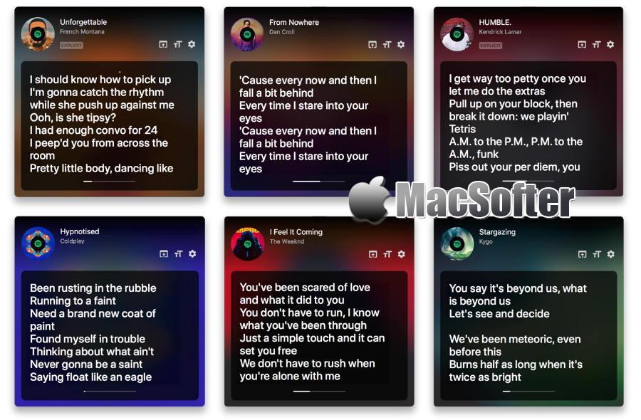 [Mac] Carol : 音乐歌词匹配显示工具