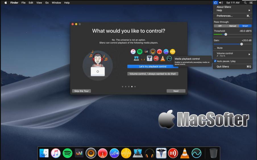 [Mac] Silenz : 让我们能够放心戴上耳机听音乐的音乐播放自动控制软件