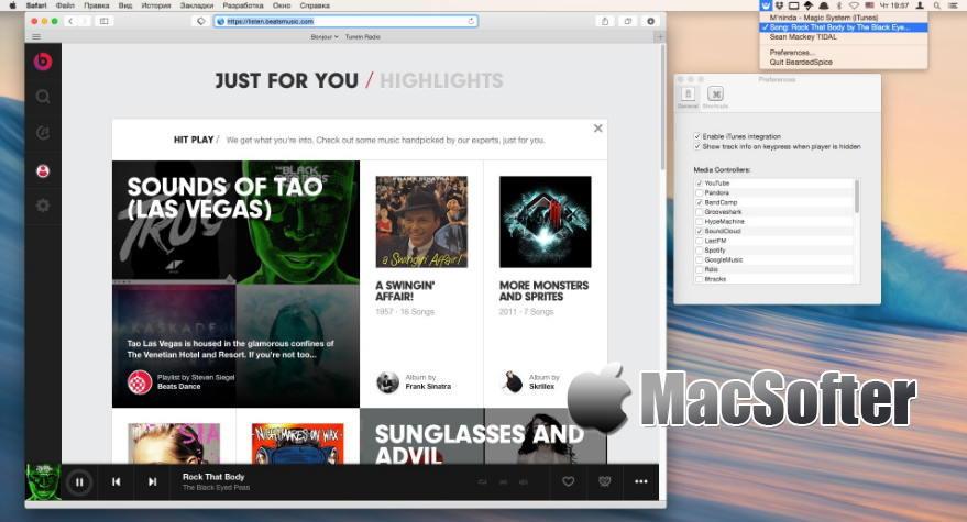 [Mac] BeardedSpice : 全方位的多媒体视频音频控制软件