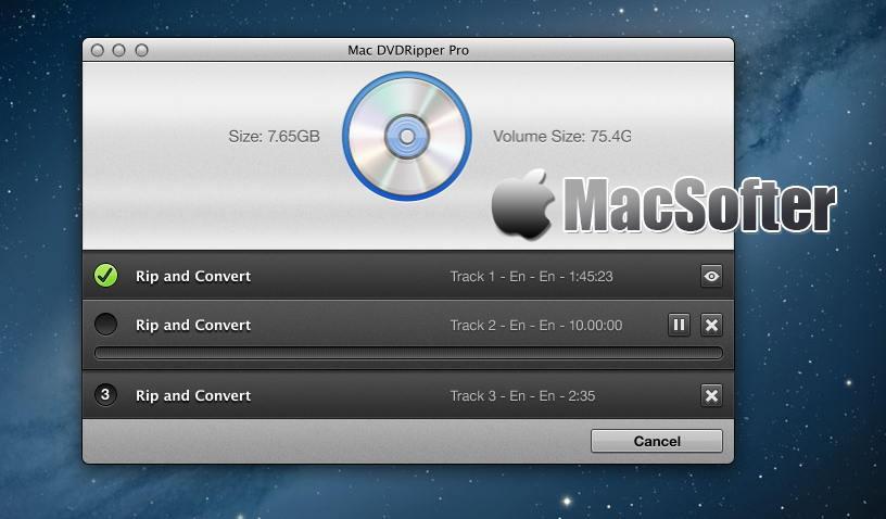 [Mac] Mac DVD Ripper Pro : DVD视频提取及格式转换工具