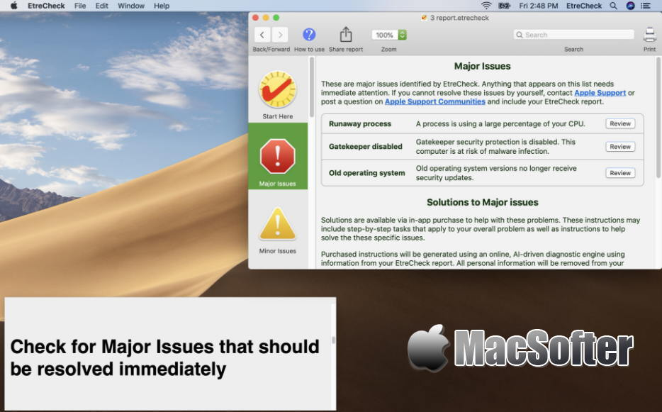 [Mac] EtreCheck Pro : 实用的硬件及软件系统检测诊断修复工具