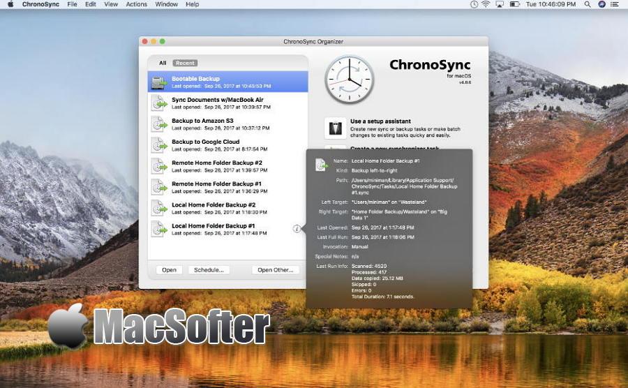 [Mac] ChronoSync : 实用的数据同步备份软件