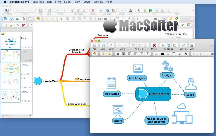 [Mac] SimpleMind : 思维导图软件