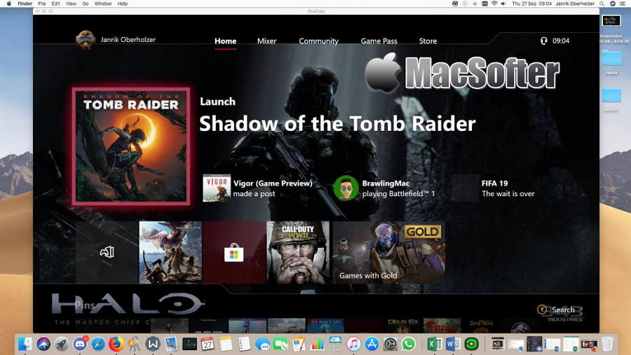 [Mac] OneCast :在Mac上也能串流玩Xbox One游戏的Xbox串流工具