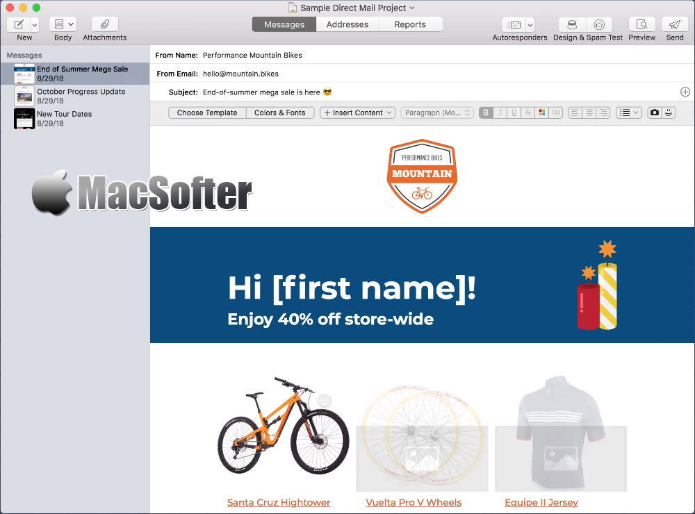 [Mac] Direct Mail :方便好用的邮件客户端