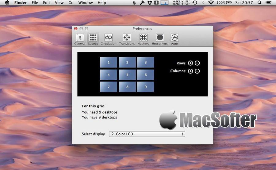[Mac] TotalSpaces : 强大的多Space管理工具
