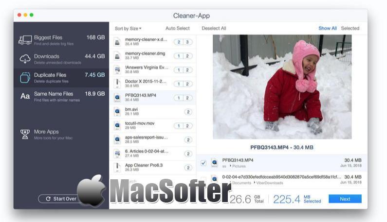 [Mac] Cleaner-App Pro : 硬盘垃圾清理以及重复文件清理工具