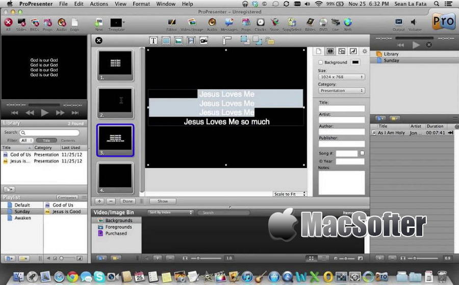 [Mac] ProPresenter : 专业的现场演出和媒体演示工具
