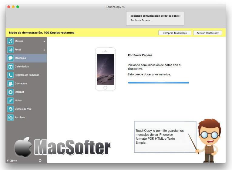 [Mac] TouchCopy : iPhone/iPad文件数据传输工具