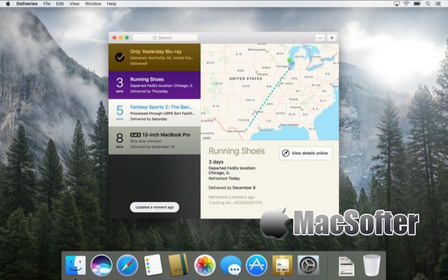 [Mac] Deliveries : 国际快递包裹物流信息跟踪软件