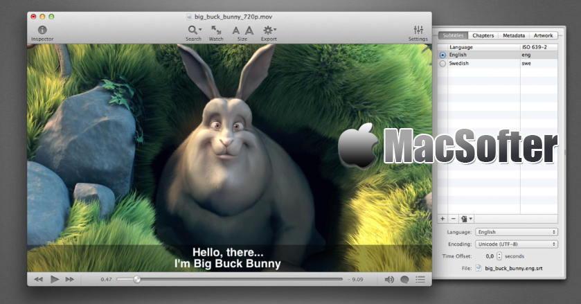 [Mac] iSubtitle : 给电影视频添加字幕的工具