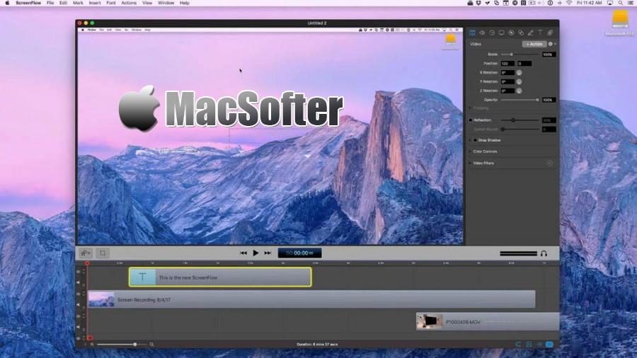 [Mac] ScreenFlow : 用于录制屏幕的屏幕录像及编辑软件