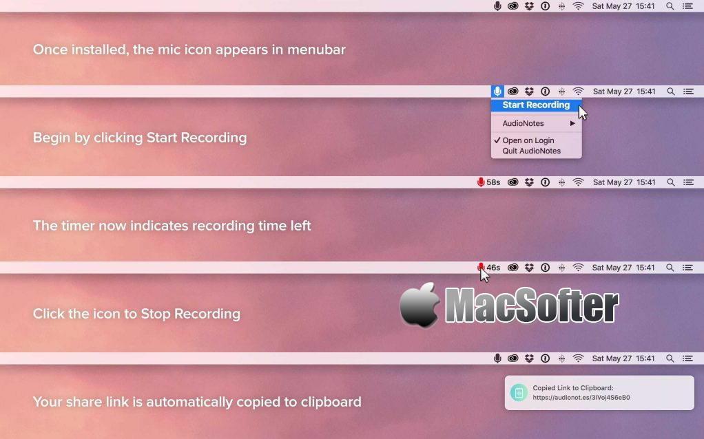 [Mac] AudioNotes : 快捷方便的录音及快速分享工具