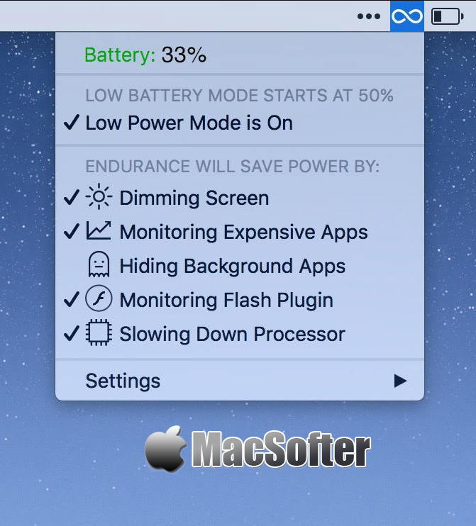 [Mac] Endurance : 增加电池使用时间的电源管理工具