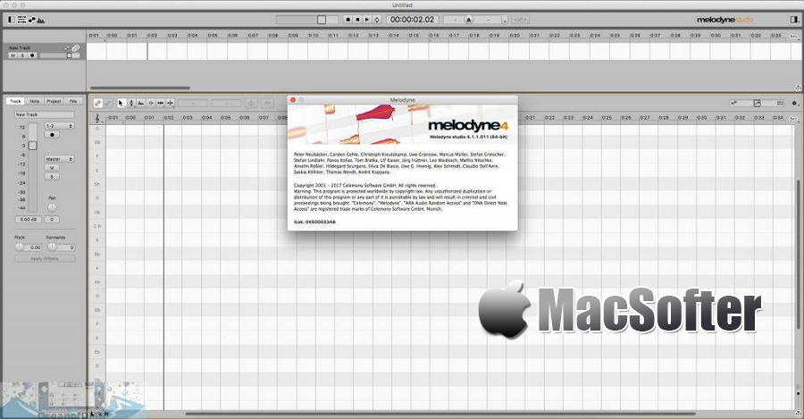 [Mac] Celemony Melodyne Studio : 用于高音修正的音频处理软件