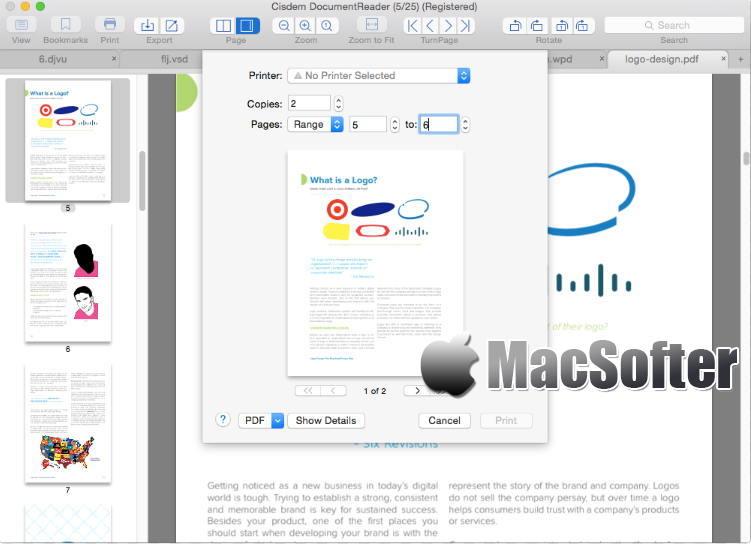 [Mac] Cisdem Document Reader :  支持PDF/Word/WPS/XPS/OXPS/Visio/DjVu/Winmail.dat的文档阅读器