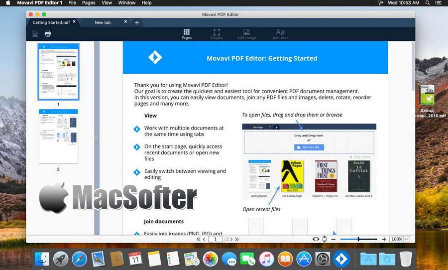 [Mac] Movavi PDF Editor : PDF阅读及PDF编辑器