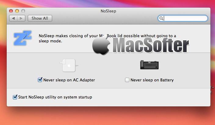 [Mac] NoSleep : 实现合盖不休眠的软件