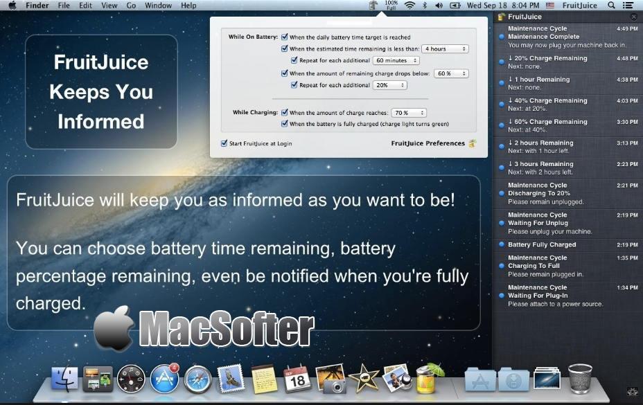 [Mac] FruitJuice : 好用的电池电源管理软件