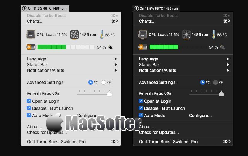 [Mac] Turbo Boost Switcher : 增加续航和降低温度的CPU睿频关闭工具