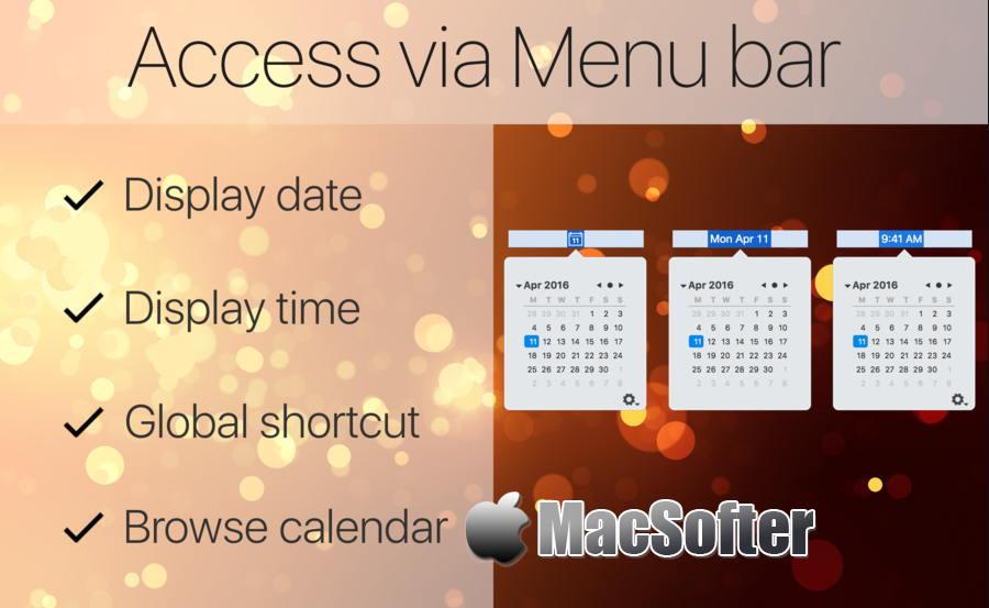 [Mac] Mini Calendar : 轻量级的菜单栏日历软件