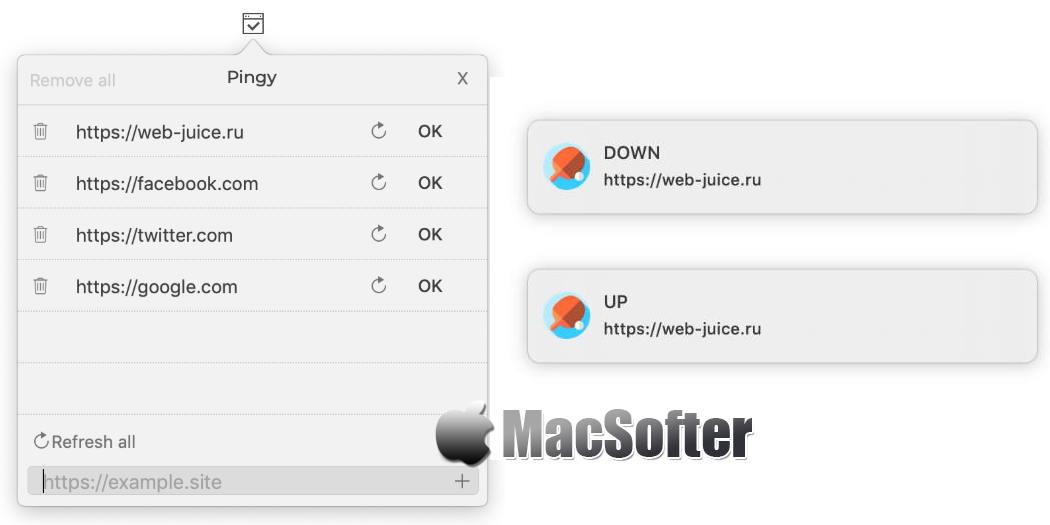 [Mac] Pingy : 网站在线状态监控工具
