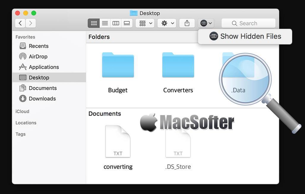 [Mac] Funter : 显示隐藏文件一键开关工具