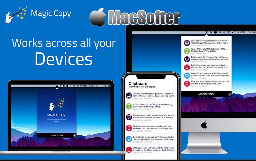 [Mac] Magic Copy : 跨平台跨设备的高效复制粘贴工具-Mac电报