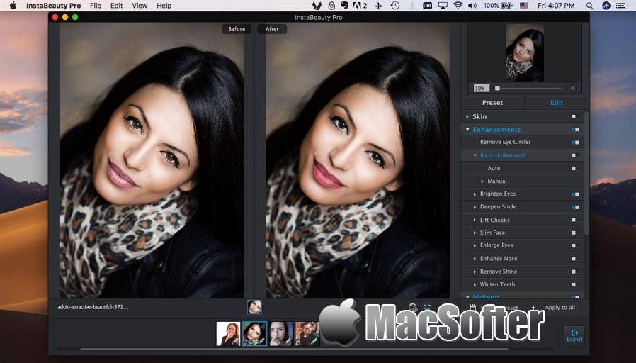 [Mac] InstaBeauty Pro : 照片磨皮美化软件