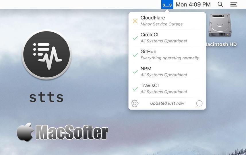 [Mac] stss : 云服务的在线状态监控软件