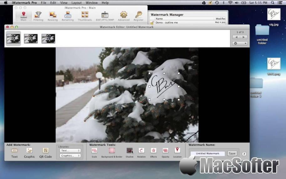 [Mac] iWatermark Pro : 图片照片批量加水印软件